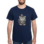 Tabby Cutie Face Kitten Dark T-Shirt