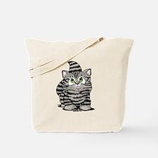 Tabby Cutie Face Kitten Tote Bag