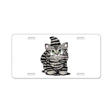 Tabby Cutie Face Kitten Aluminum License Plate