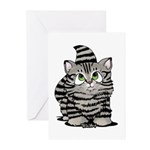 Tabby Cutie Face Kitten Greeting Cards (Pk of 20)