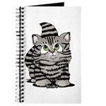 Tabby Cutie Face Kitten Journal