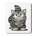 Tabby Cutie Face Kitten Mousepad