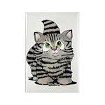 Tabby Cutie Face Kitten Rectangle Magnet