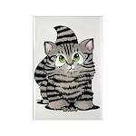 Tabby Cutie Face Kitten Rectangle Magnet (100 pack