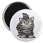Tabby Cutie Face Kitten Magnet