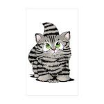 Tabby Cutie Face Kitten Sticker (Rectangle 10 pk)