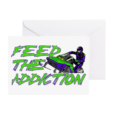 Feed The Addiction Greeting Cards (Pk of 10)