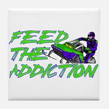 Feed The Addiction Tile Coaster