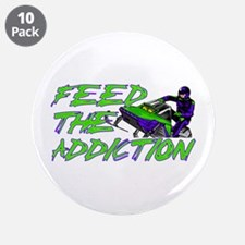 "Feed The Addiction 3.5"" Button (10 pack)"