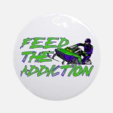 Feed The Addiction Ornament (Round)
