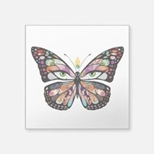 "butterpng.png Square Sticker 3"" x 3"""