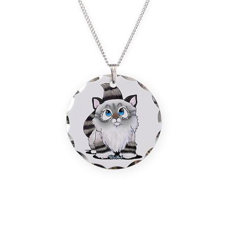 Cutieface Kitten: Ragdoll Necklace Circle Charm