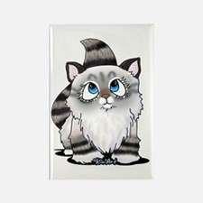 Cutieface Kitten: Ragdoll Rectangle Magnet