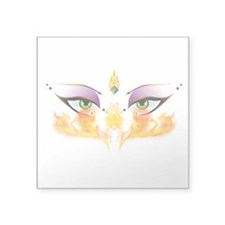 """Belly Dance Shimmy Chic Square Sticker 3"""" x 3"""""""