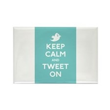 Keep Calm and Tweet On Rectangle Magnet