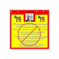"Lenin quotes Square Sticker 3"" x 3"""
