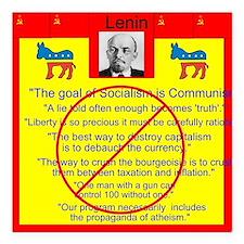 """Lenin quotes Square Car Magnet 3"""" x 3"""""""
