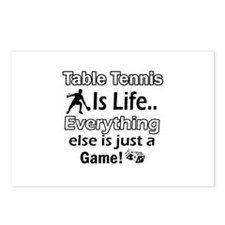 Table Tennis Is Life Postcards (Package of 8)