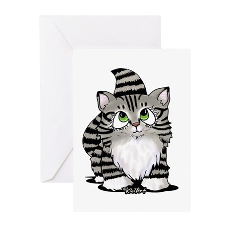 Tabby Cutie Face Kitty II Greeting Cards (Pk of 20