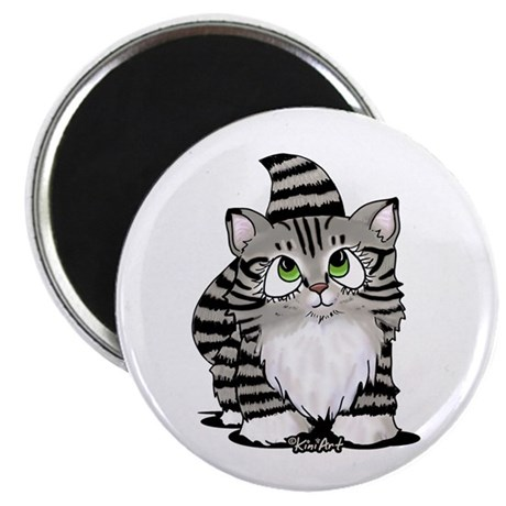 """Tabby Cutie Face Kitty II 2.25"""" Magnet (10 pack)"""