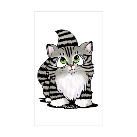 Tabby Cutie Face Kitty II Sticker (Rectangle 10 pk