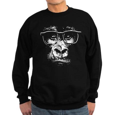 Glasses Gorilla Sweatshirt (dark)