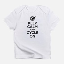 Keep Calm and Cycle On Black Text Infant T-Shirt