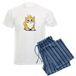 Yellow Tabby Cutie Cat Men's Light Pajamas
