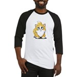 Yellow Tabby Cutie Cat Baseball Jersey