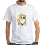 Yellow Tabby Cutie Cat White T-Shirt