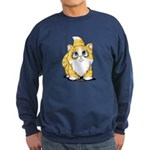 Yellow Tabby Cutie Cat Sweatshirt (dark)