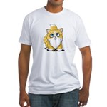 Yellow Tabby Cutie Cat Fitted T-Shirt