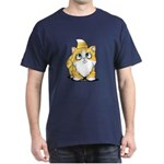 Yellow Tabby Cutie Cat Dark T-Shirt