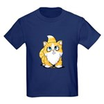 Yellow Tabby Cutie Cat Kids Dark T-Shirt