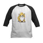 Yellow Tabby Cutie Cat Kids Baseball Jersey