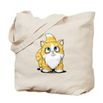 Yellow Tabby Cutie Cat Tote Bag