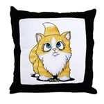 Yellow Tabby Cutie Cat Throw Pillow