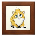 Yellow Tabby Cutie Cat Framed Tile