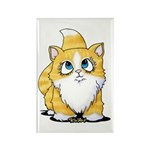 Yellow Tabby Cutie Cat Rectangle Magnet