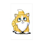Yellow Tabby Cutie Cat Sticker (Rectangle 10 pk)