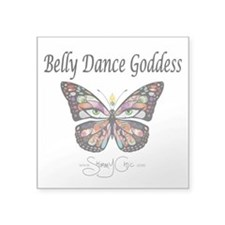 Shimmy Chic Belly dance Goddess Square Sticker 3&a