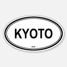Kyoto, Japan euro Oval Decal