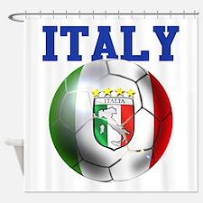 Italy Soccer Ball Shower Curtain