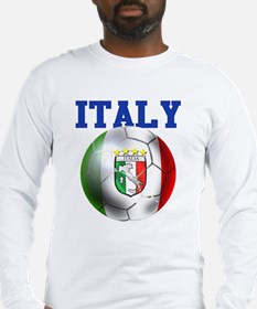 Italy Soccer Ball Long Sleeve T-Shirt