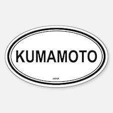 Kumamoto, Japan euro Oval Decal