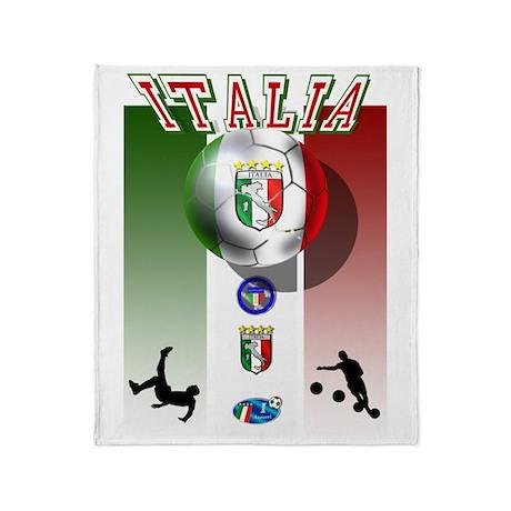 Italia Italian Football Throw Blanket