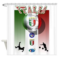 Italia Italian Football Shower Curtain