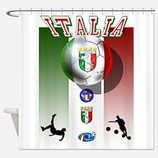 Italia Italian Football Shower Curtain