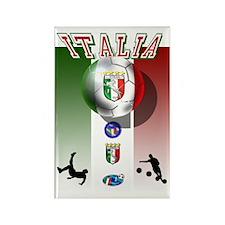Italia Italian Football Rectangle Magnet
