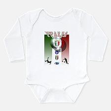 Italia Italian Football Long Sleeve Infant Bodysui
